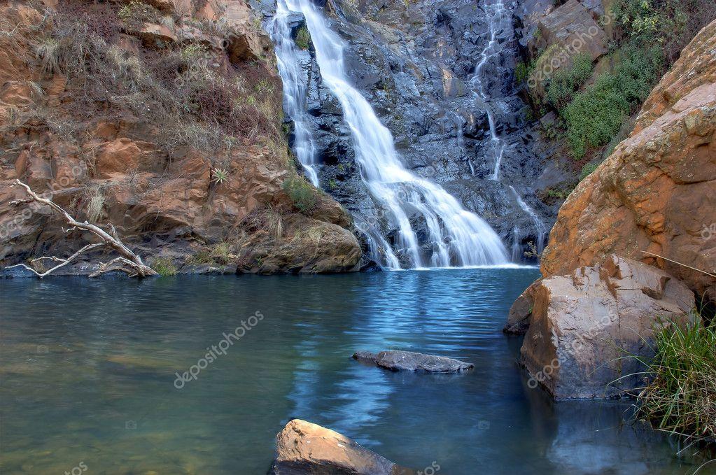 Rock pool & waterfall