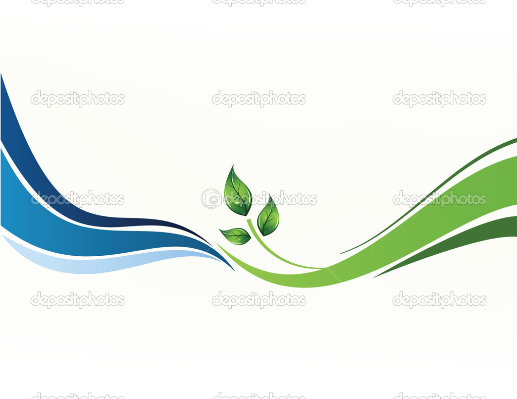 Vector background with tree and sea