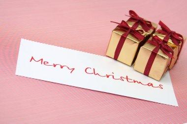 Christmas boxes a congratulatory card