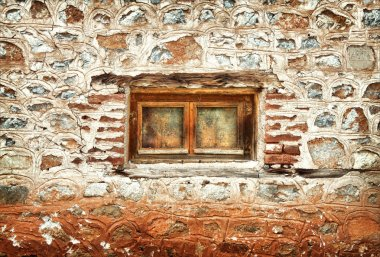 The window of an old abandoned house