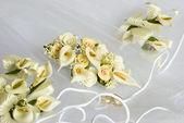 Svatební květiny přes závoj