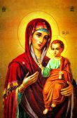 Fotografie Jungfrau Maria mit Jesus Symbol