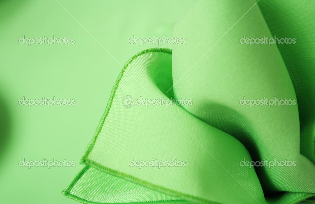 Green napkin abstract