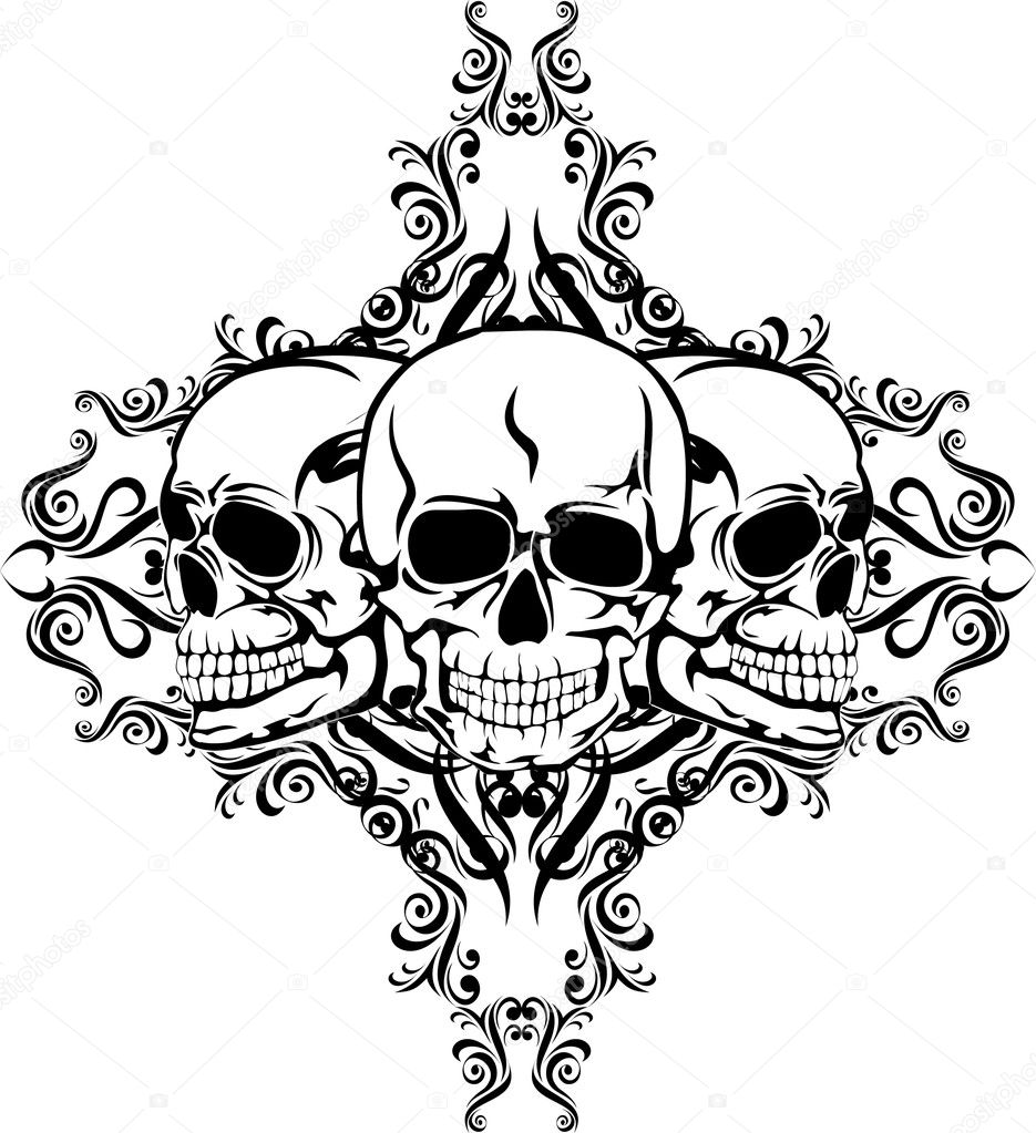 Skull With Pattern Stock Vector 169 Ss1001 1574277
