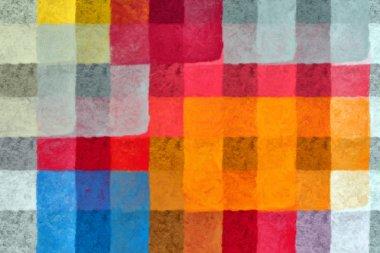 Paint squares pattern