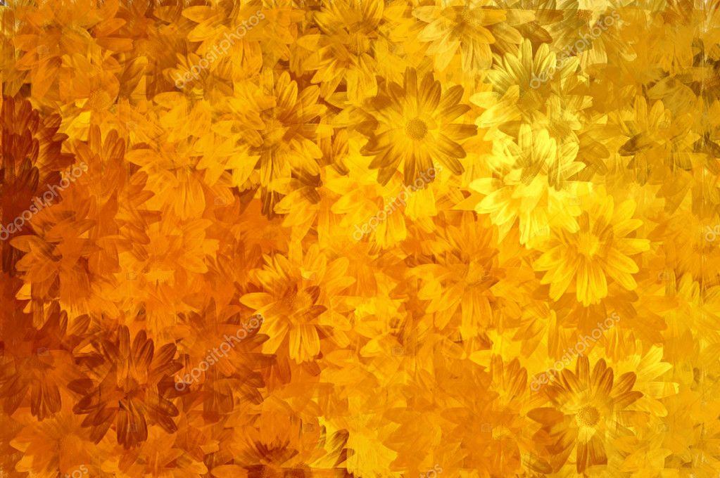 Paint floral pattern