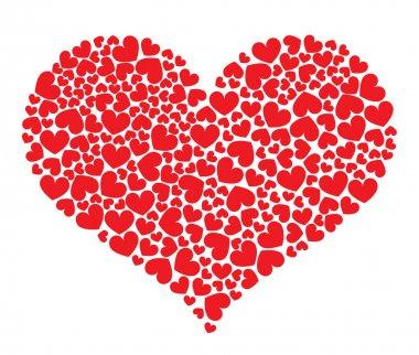 Red heart shape on white background stock vector