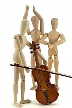 Mannequin and violin
