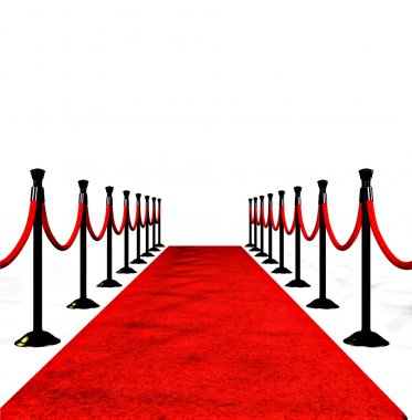 The red carpet of success, with copy space stock vector
