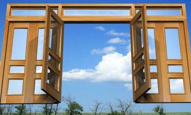 Open gates into the celestial paradise