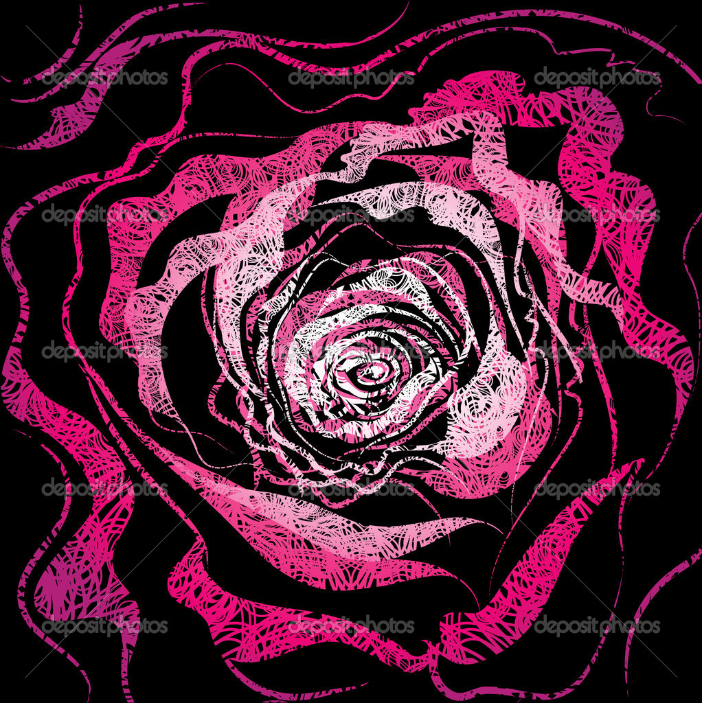 Grunge rose Illustration
