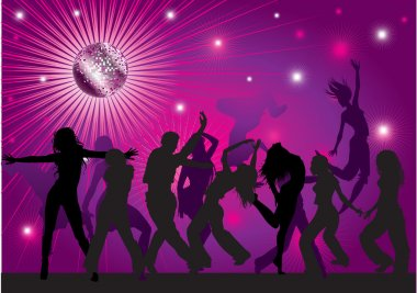 Vector background with dancing