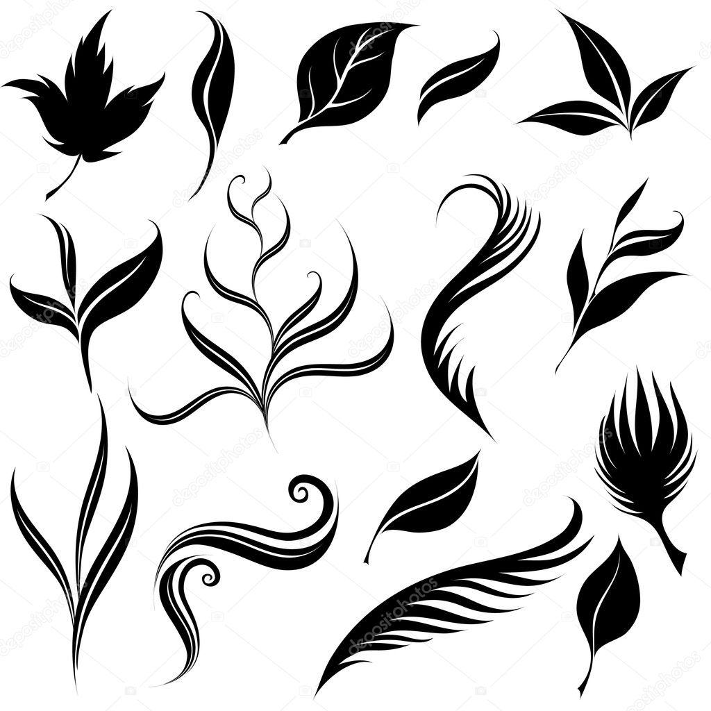 Plants design elements