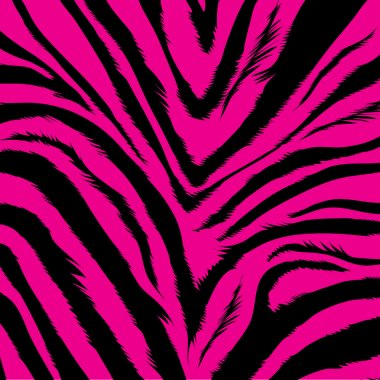 Agressive pinl zebra background clip art vector