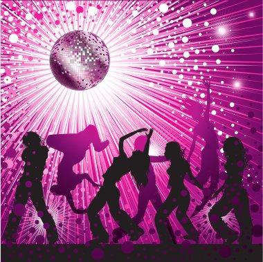 disco-ball and glitters