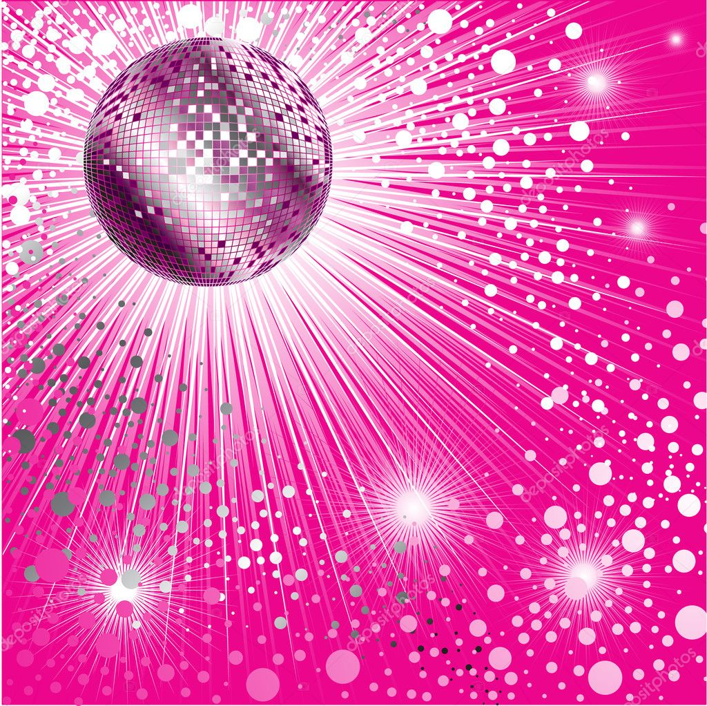 Disco-ball and glitters