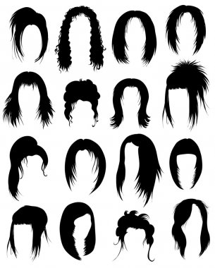 Set of hair styling