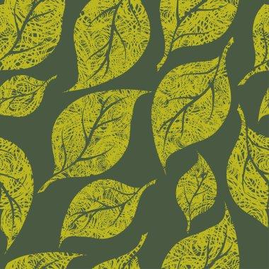 Seamless vintage grunge floral pattern