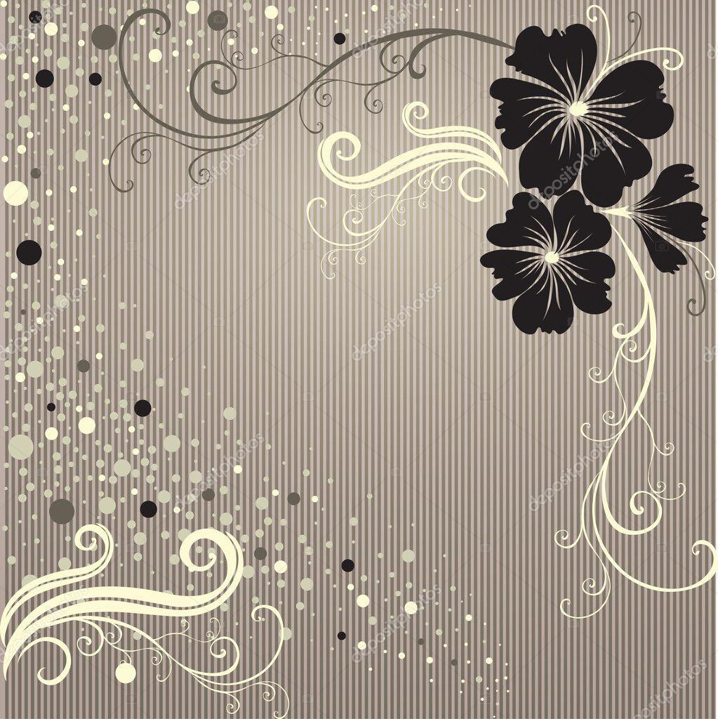 Vector Floral vintage frame