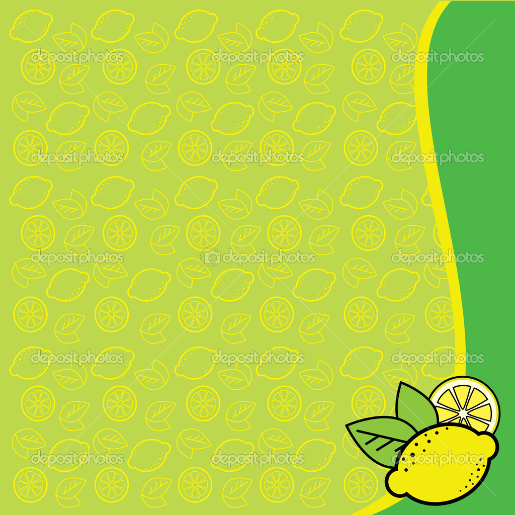 Vector background with lemons