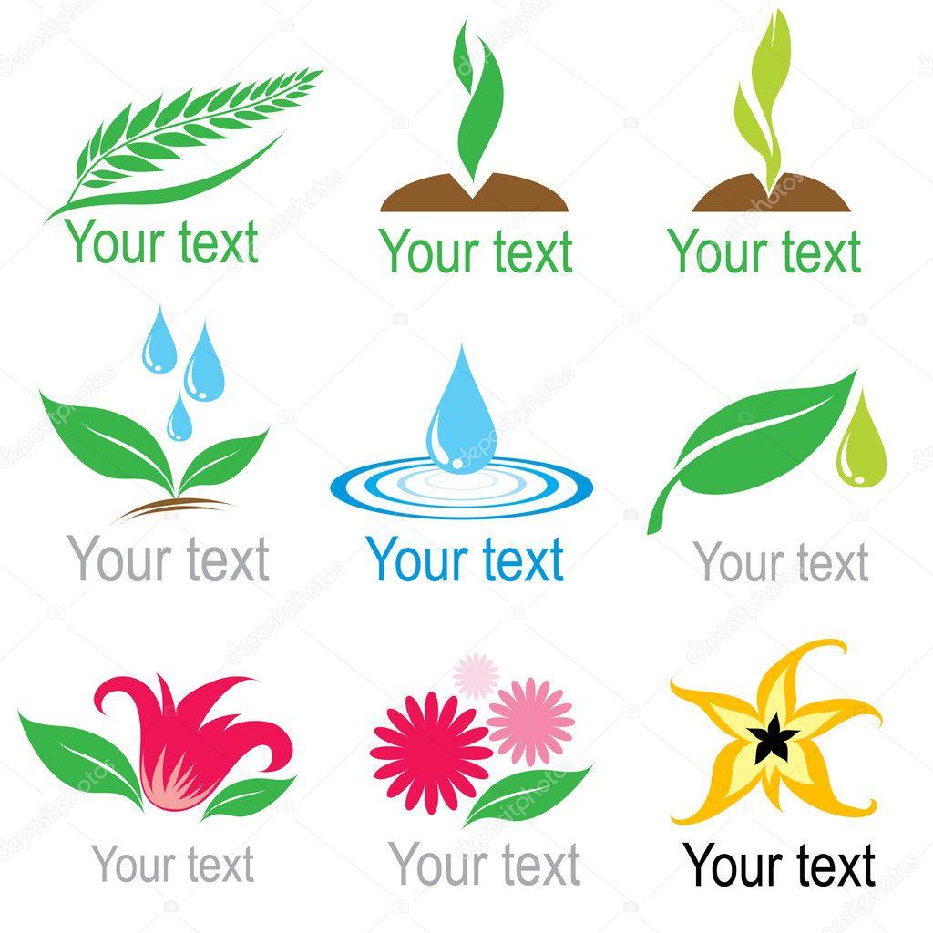Set of organic symbols