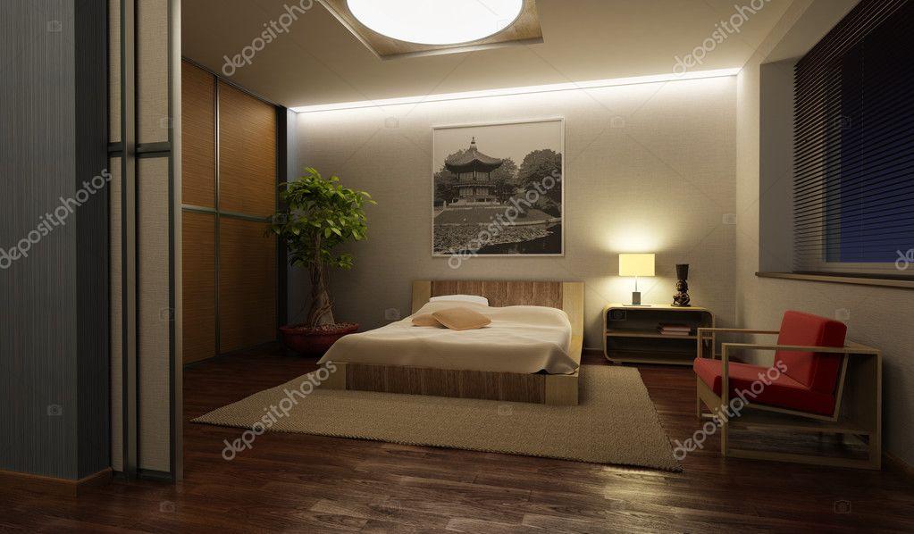 Japan Stil Schlafzimmer interior — Stockfoto © auriso #2466377