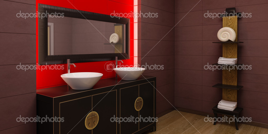 3d Rendering Of The Asian Bathroom Photo By Auriso