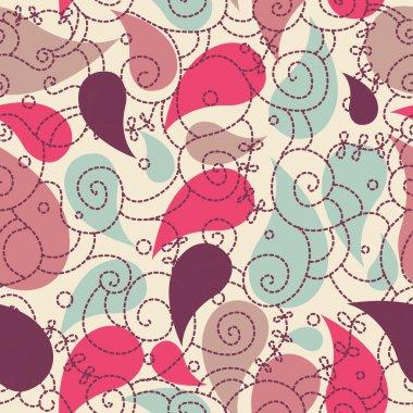 Cute paisley seamless background