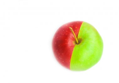 A red-green apple