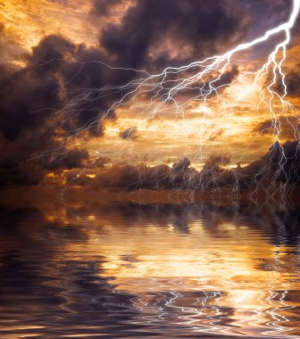 Reflection of lightning