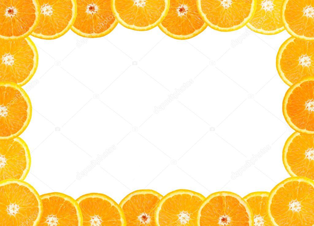 marco de fruta fresca de naranja — Foto de stock © hydromet #1615858