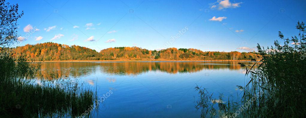 Beautiful autumn panoramic landscape of