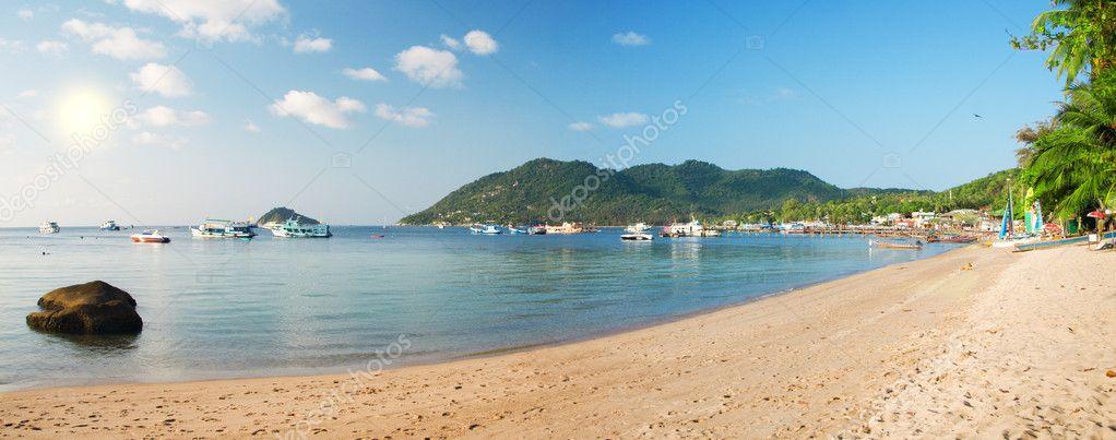 Panoramic beach. Koh tao island. Thailan