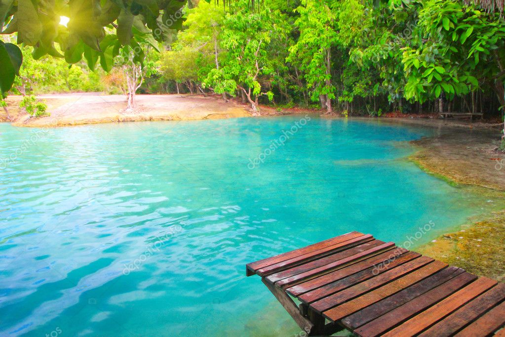 Emerald Pool. Krabi, Thailand