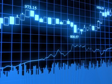 Abstract stock graph