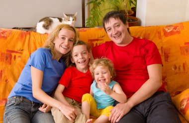 Beautiful happiness family
