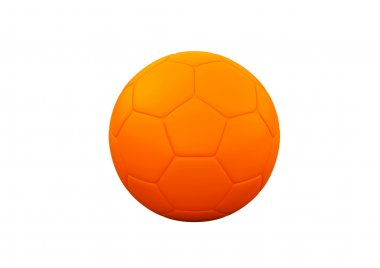 Orange Soccer ball on white background