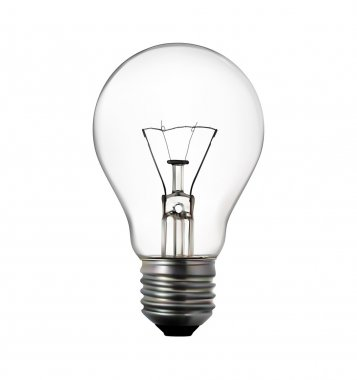 3d render of light bulb on white