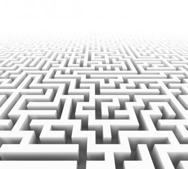Illustration of a maze or labyrint