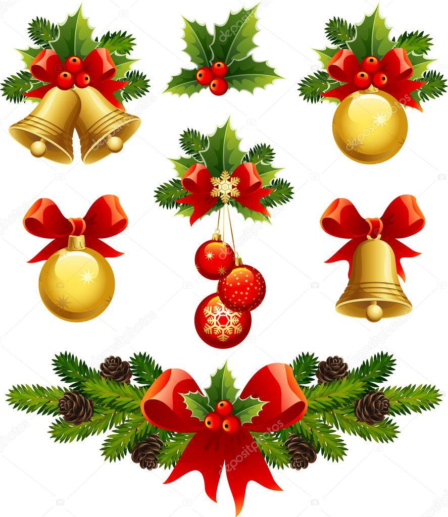 Enfeites De Natal Vetores De Stock Jut_13 1584842 -> Enfeites De Fotos
