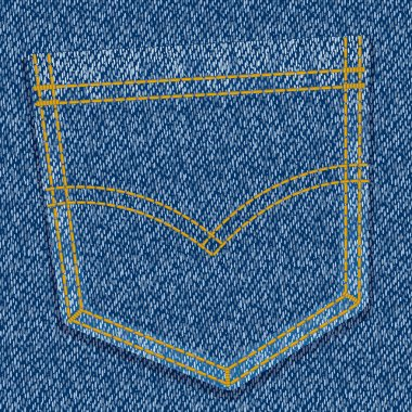 Textured background of blue-jeans with pocket