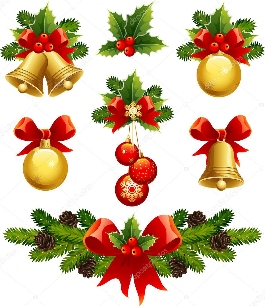 Christmas ornaments stock vector jut 13 2013784 for Xmas decoration pictures