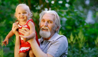 Grandfather and grand daughter