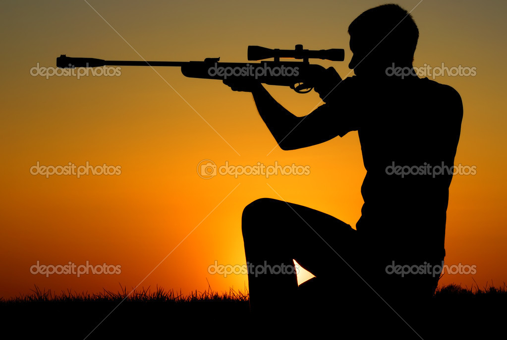 The sniper for a sunset.