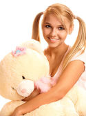 Photo Blonde with teddy bear
