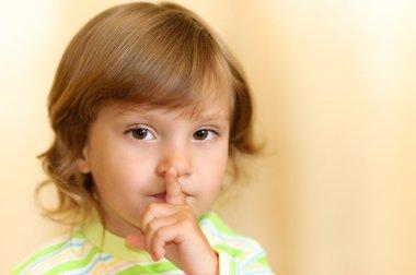 Little girl calls for silence