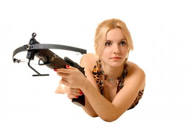 Women with crossbow