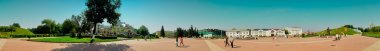 Panorama trading area of city Dmitrov