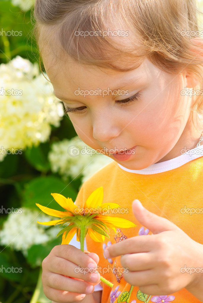 Girl with floret
