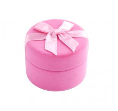 Pink gift box with a bow